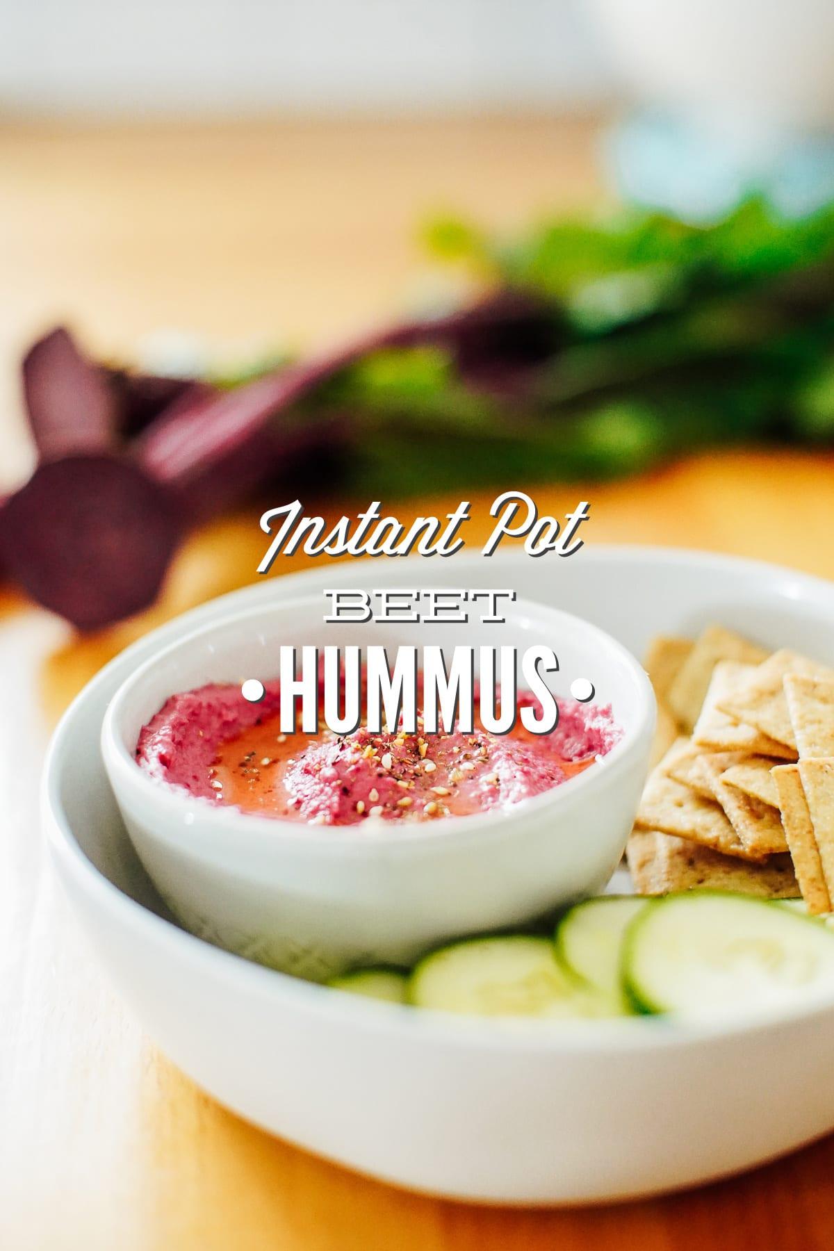 Instant Pot Beet Hummus
