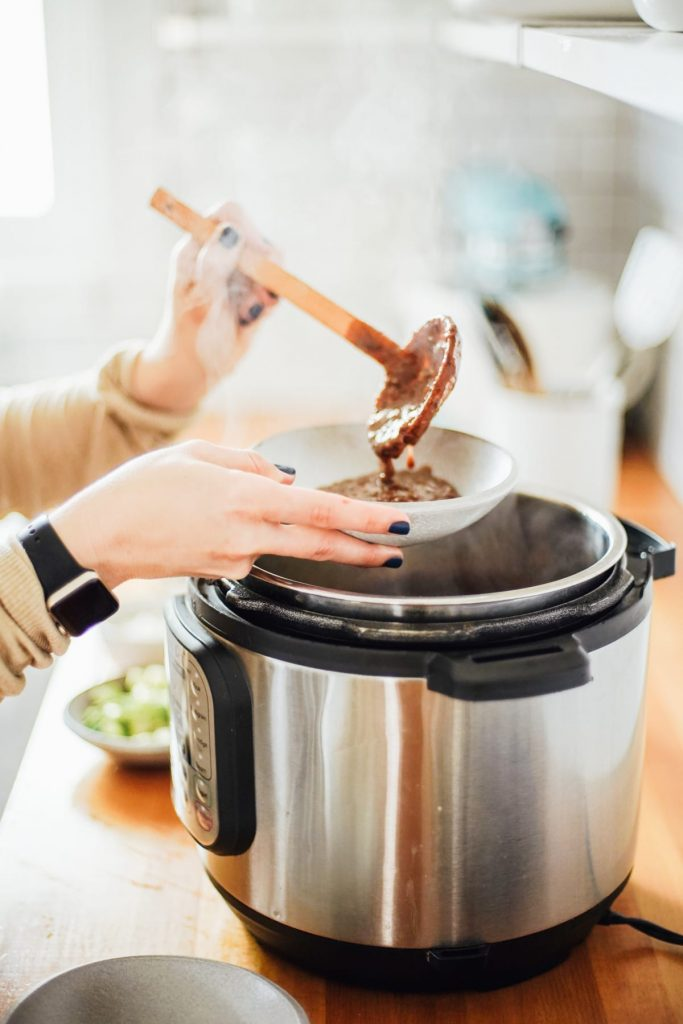 Making soup in Instant Pot