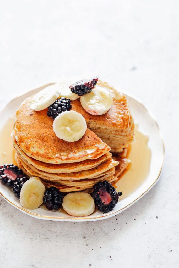 Homemade einkorn pancakes