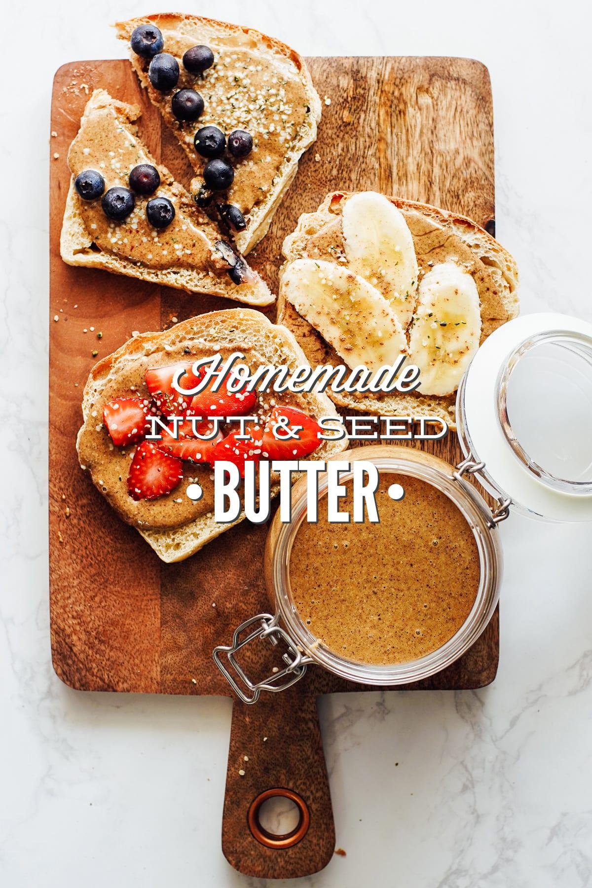 Homemade Nut and Seed Butter (Hazelnut and Pumpkin Seed Butter)