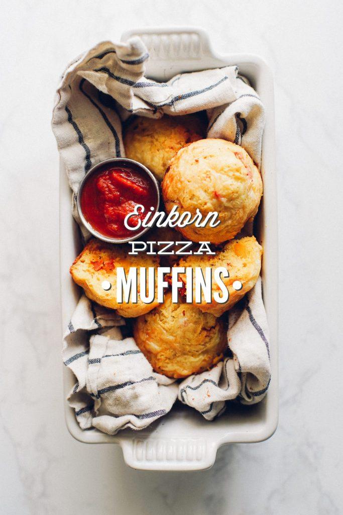 Einkorn Pizza Muffins