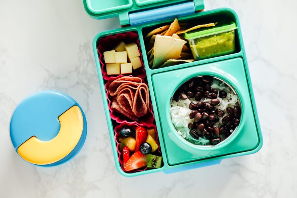 Healthy Lunchbox Idea: Black beans and rice