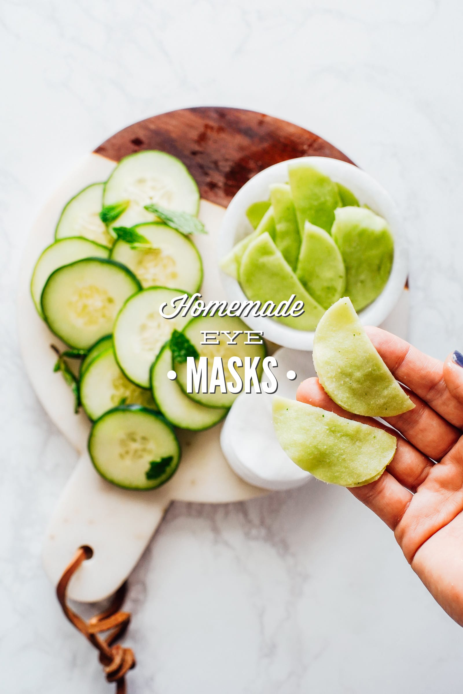 Homemade Eye Masks (De-Puffing and Soothing)