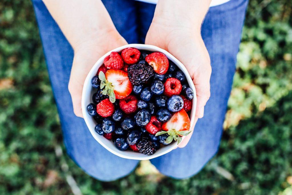 Berries for sweetening homemade yogurt