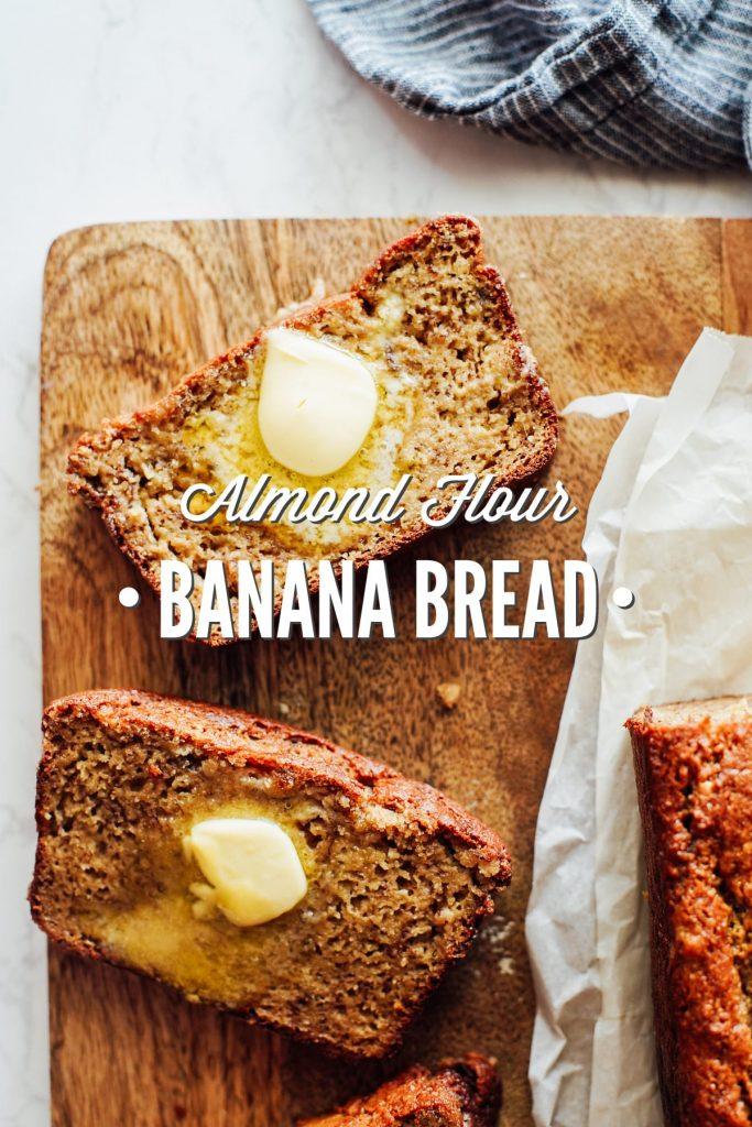 Almond Flour Banana Bread Slices