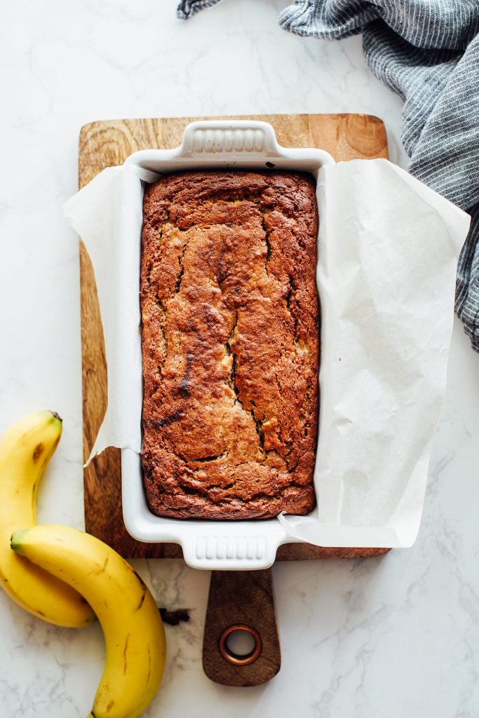 Baked almond flour banana bread