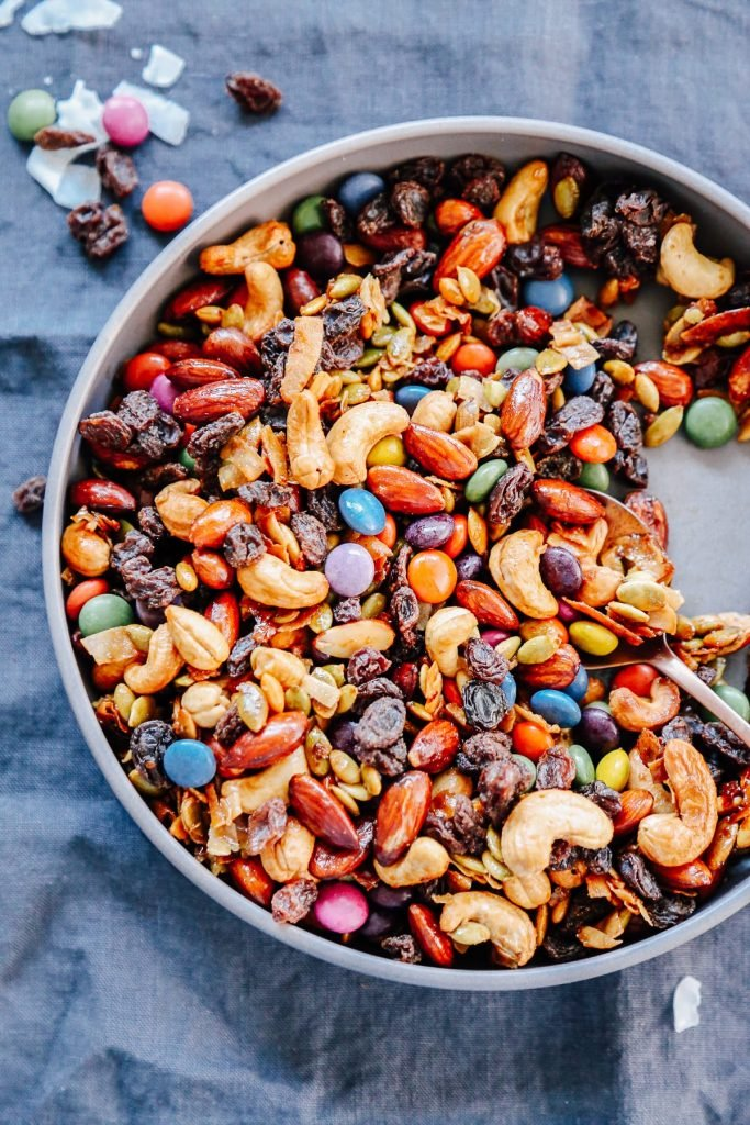 healthy kids school snack ideas: trail mix for school snack