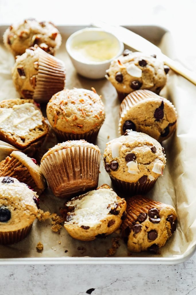 healthy kids school snack ideas: homemade muffins for school snack