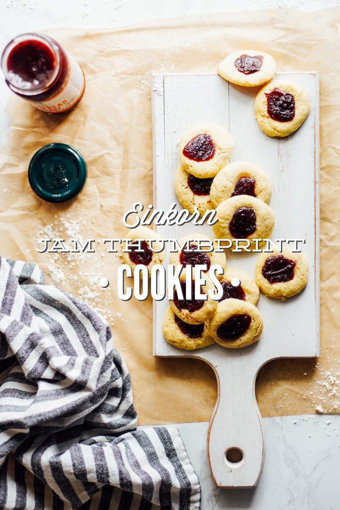 Einkorn Jam Thumbprint Cookies