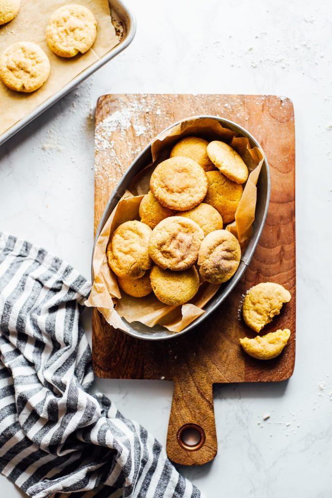 einkorn snickerdoodle cookies
