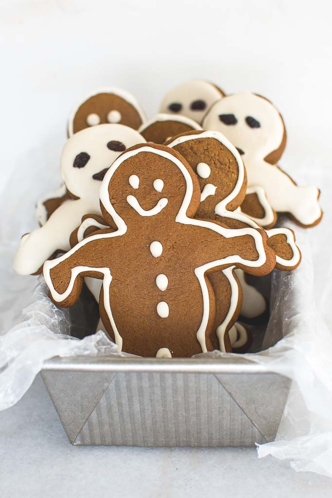einkorn maple gingerbread men from Nourished Kitchen