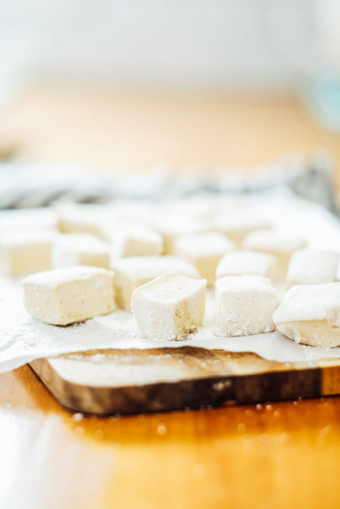 cut marshmallows ready to be enjoyed or stored
