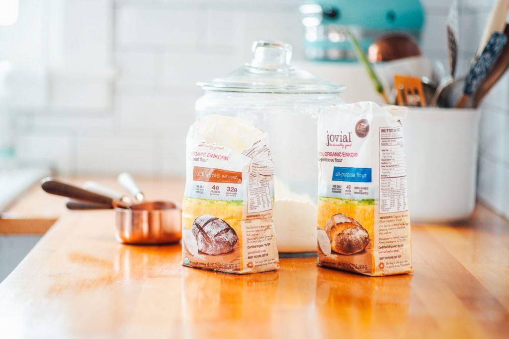einkorn flour for making snickerdoodle cookies