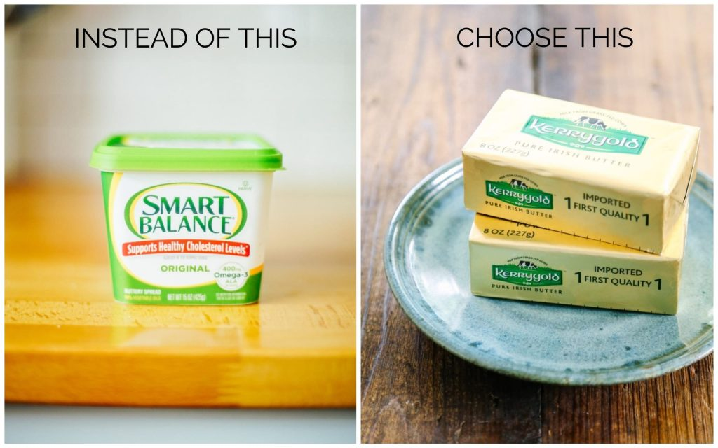 Healthy Food Swaps butter and margarine