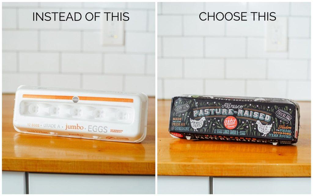Healthy Food Swaps eggs