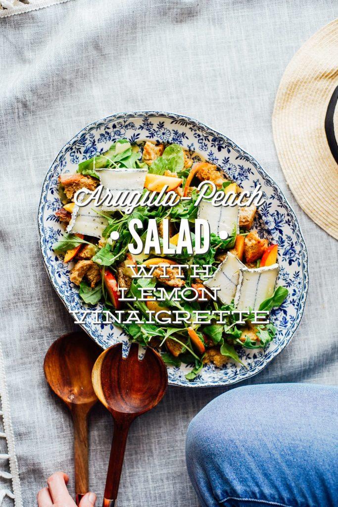 Arugula-Peach Salad with Lemon Vinaigrette