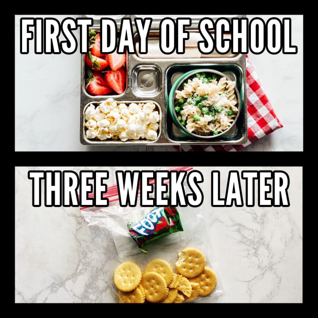 School lunch meme