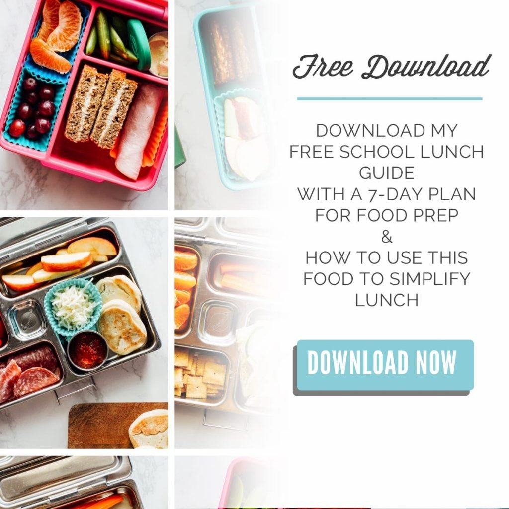School Lunch Food Prep Ideas