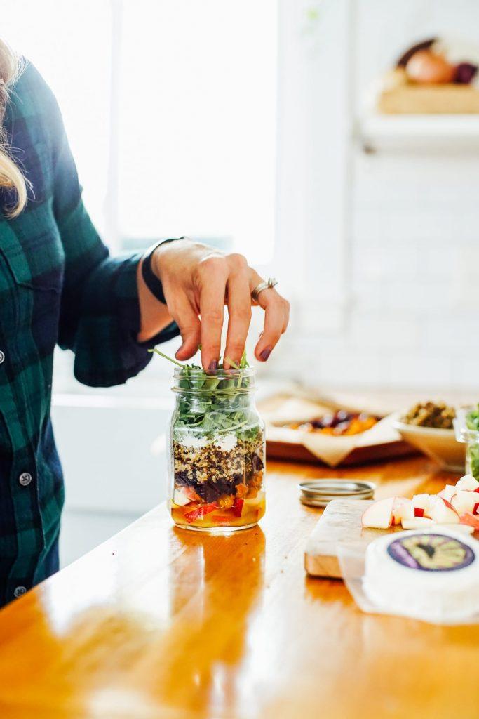 Fall Salad In a Jar