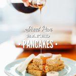 Baked Sheet Pan Einkorn Pancakes