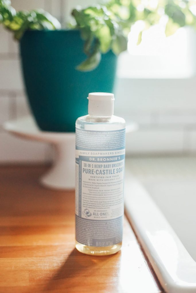 castile soap used for making all purpose cleaner