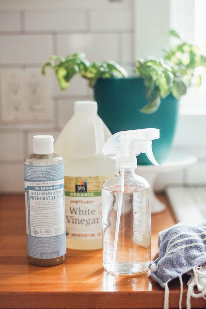glass spray bottle for making homemade cleaners