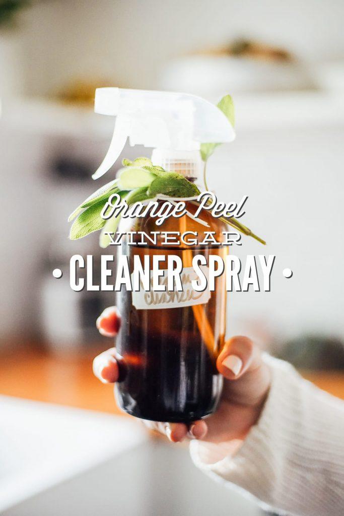 Orange Peel Vinegar Cleaner Spray