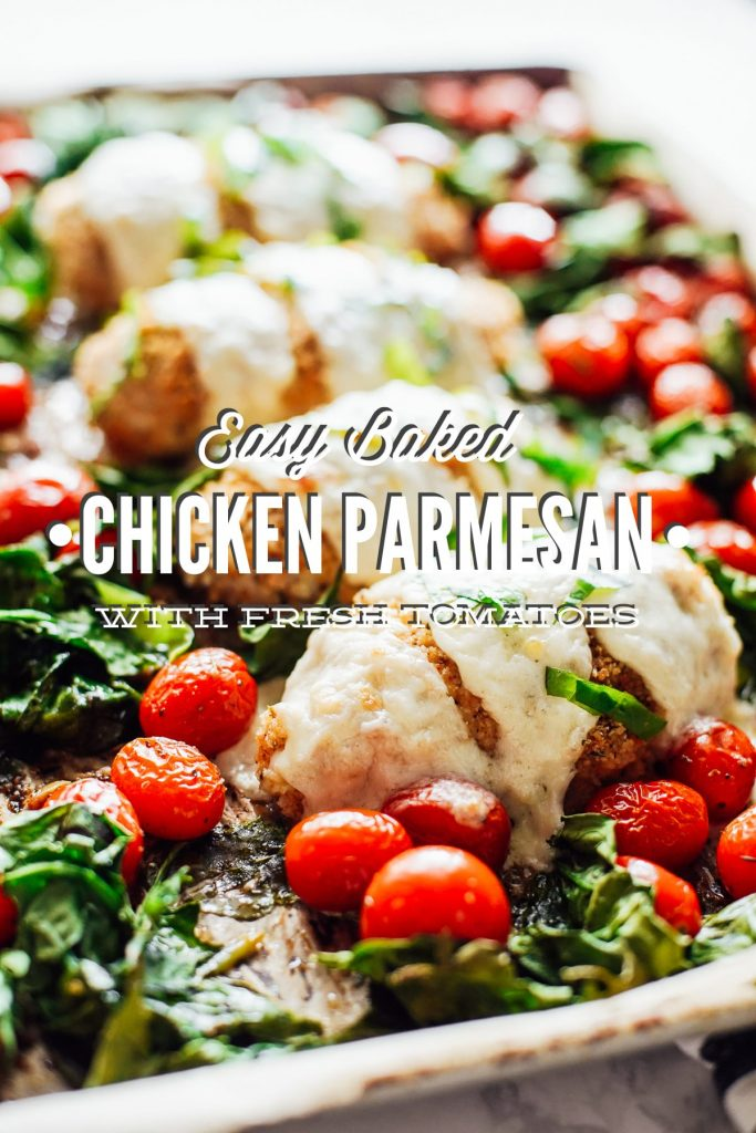 Baked Chicken Parmesan with Fresh Tomatoes