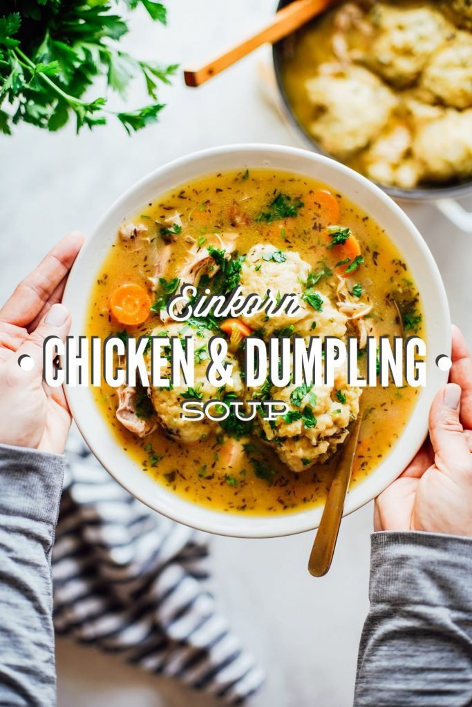 Einkorn Chicken and Dumpling Soup