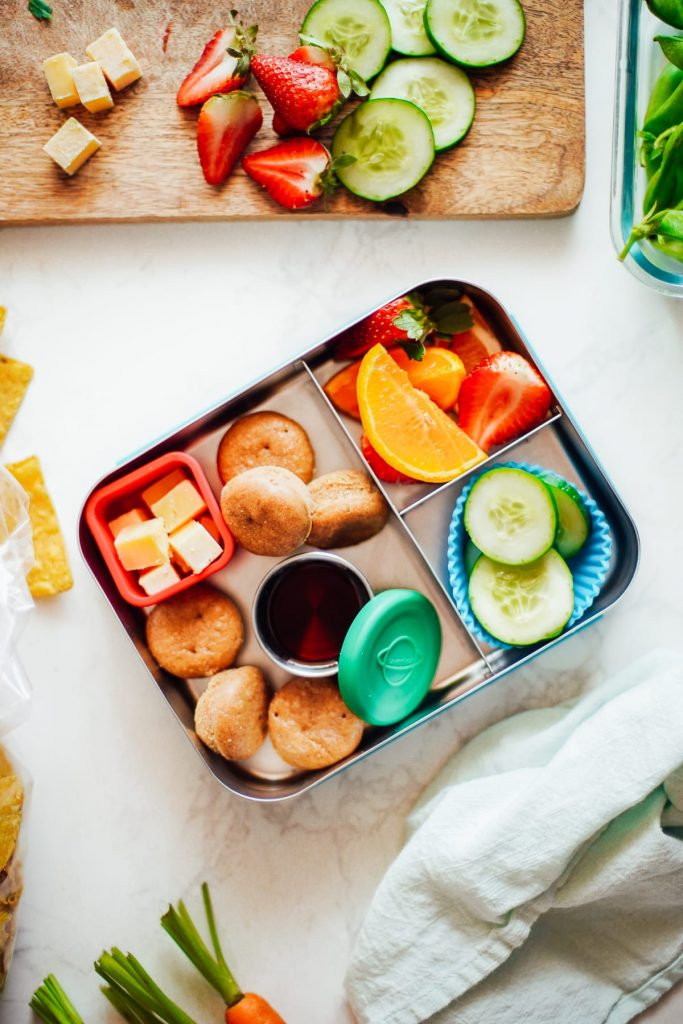 pancake muffins in lunchbox