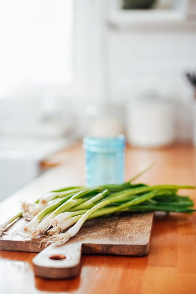 how to store chopped green onions