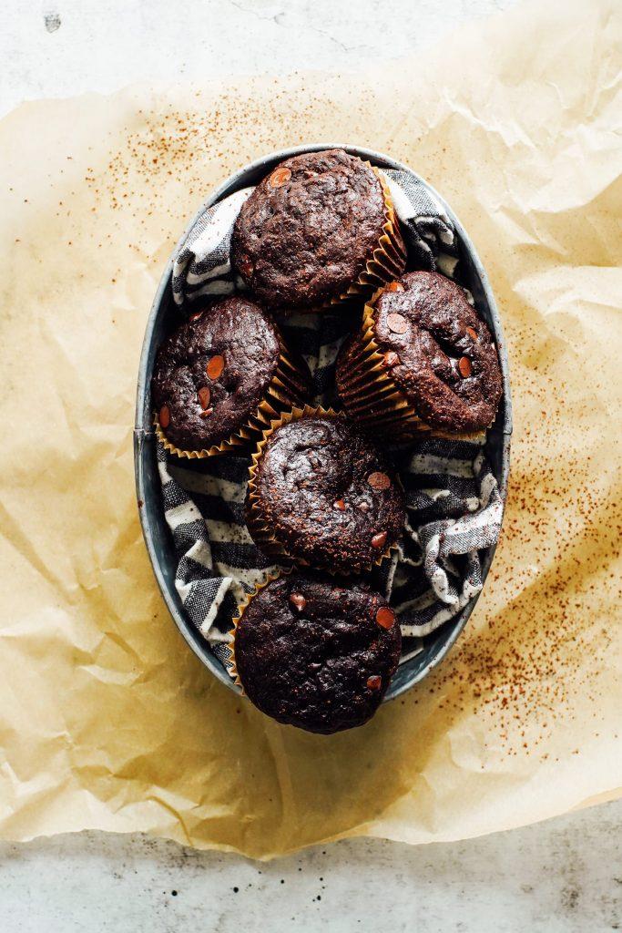 Einkorn Chocolate Zucchini Muffins
