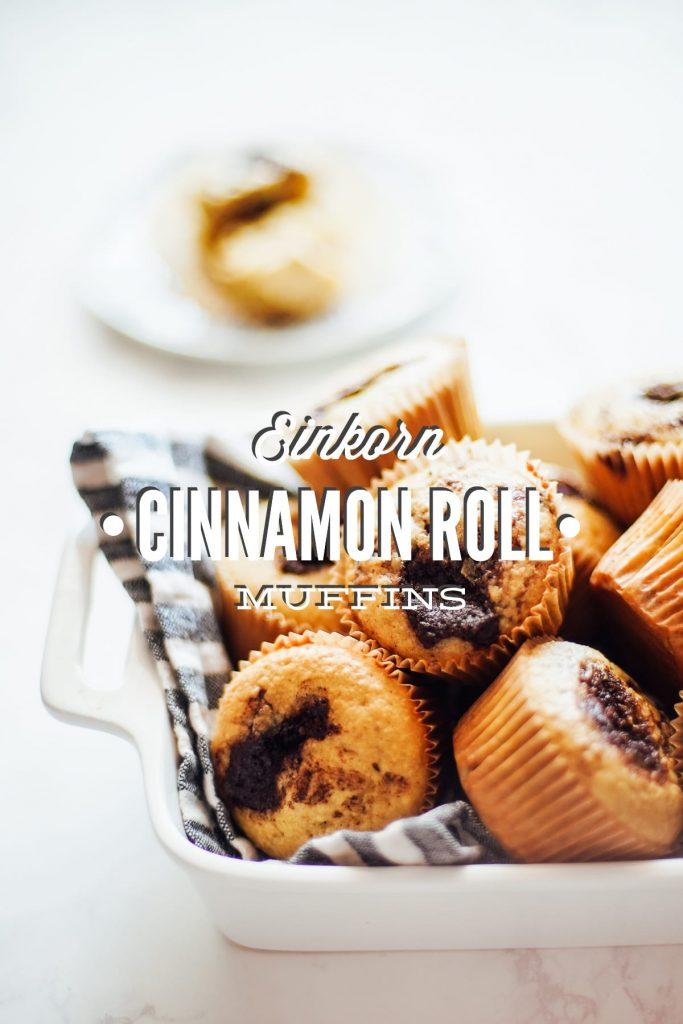 einkorn cinnamon roll pancakes