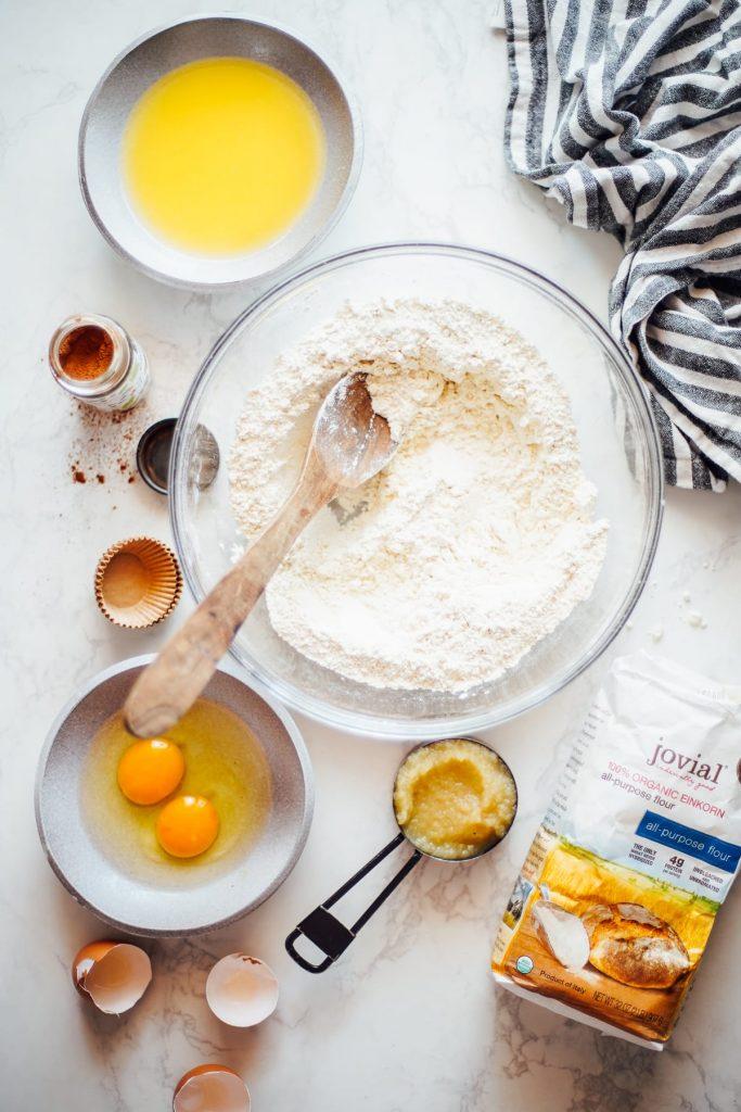 einkorn flour for muffins