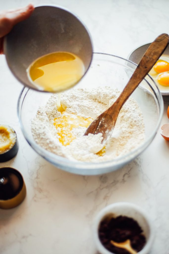 melted butter for einkorn muffins