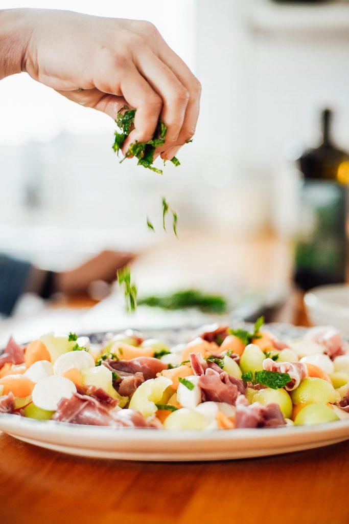 mint for Prosciutto and Melon Salad